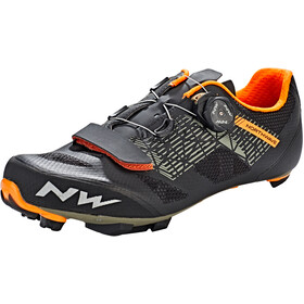 Northwave Razer Schoenen Heren, black/forrest/orange